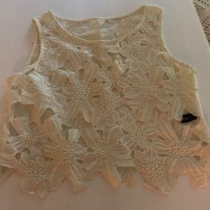 Tops - Lookbook store Cream lace top size 4